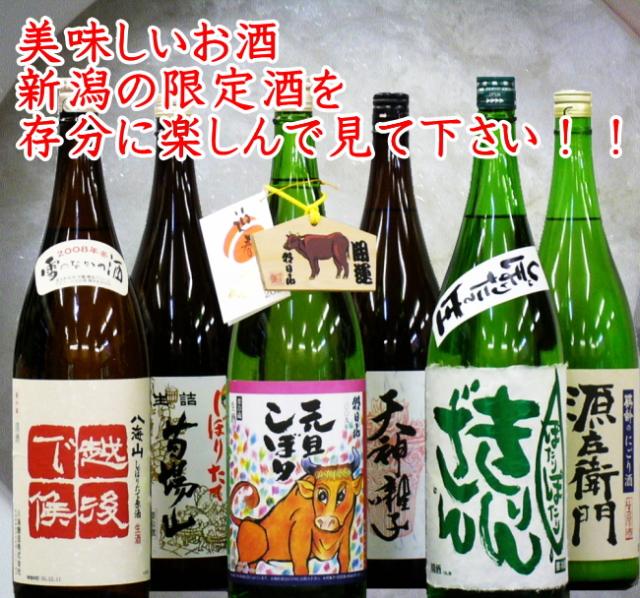 美味しいお酒 新潟の限定酒を存分に楽しんでみてください!!